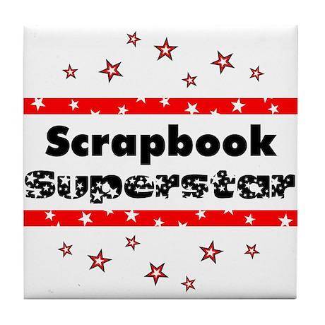 Scrapbook Superstar Tile Coaster