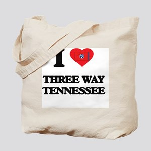 I love Three Way Tennessee Tote Bag