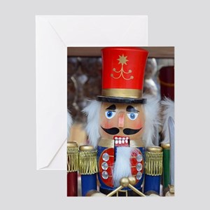 Three christmas nutcrackers Greeting Cards