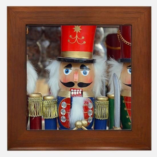 Three christmas nutcrackers Framed Tile