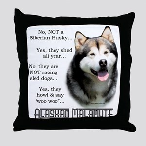 Malamute FAQ Throw Pillow
