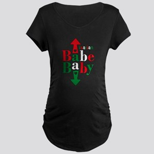 Italian Babe Baby Maternity Dark T-Shirt