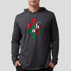 Italian Babe Baby Mens Hooded Shirt