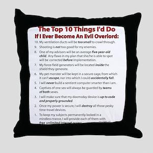 Evil Top 10! Throw Pillow