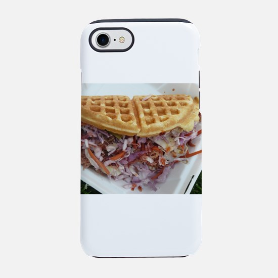 pulled pork waffle with colesl iPhone 7 Tough Case