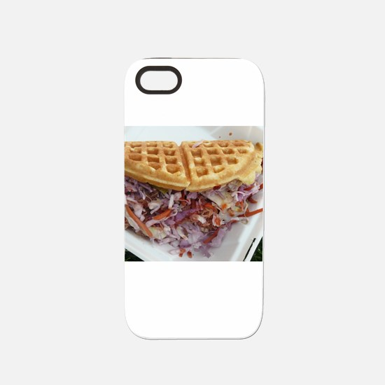 pulled pork waffle with col iPhone 5/5S Tough Case