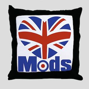 Mods Throw Pillow