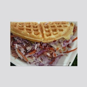 pulled pork waffle with coleslaw Magnets