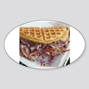 pulled pork waffle with coleslaw Sticker