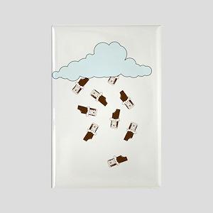 """Chocolate Bar Rain"" Rectangle Magnet"