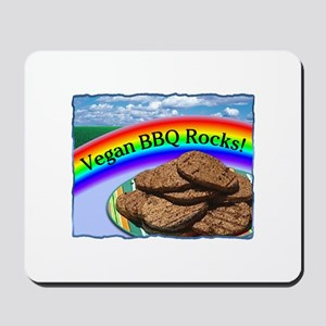 Vegan BBQ Rocks! Mousepad