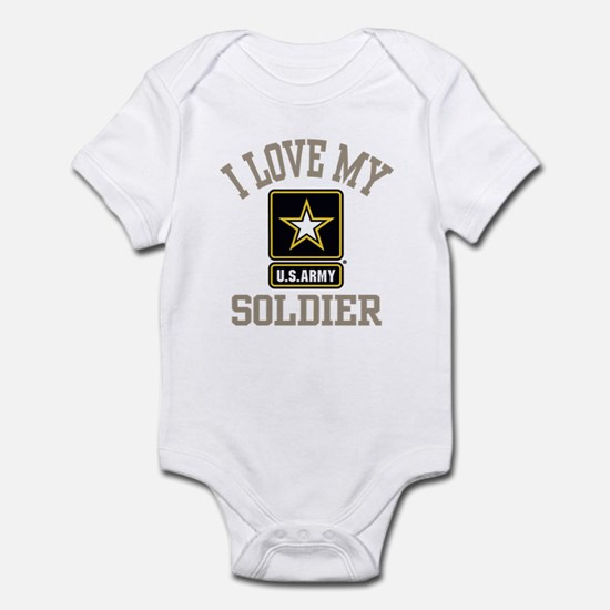 I Love My US Army Soldier Infant Bodysuit