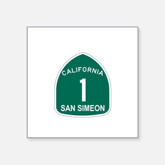 "Cute Highway one Square Sticker 3"" x 3"""