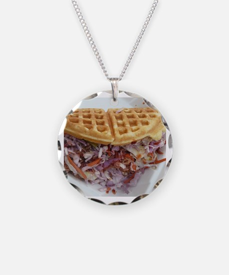 pulled pork waffle with cole Necklace