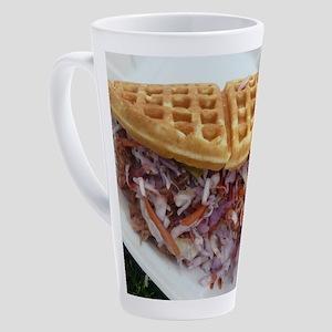 pulled pork waffle with coleslaw 17 oz Latte Mug