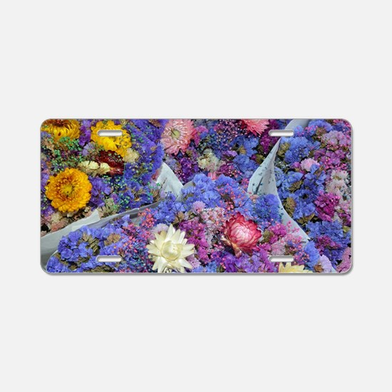 Cute Florist Aluminum License Plate