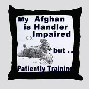 Afghan Agility Throw Pillow