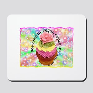 Powered by Vegan Cupcakes Mousepad