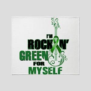 RockinGreenForMyself Throw Blanket