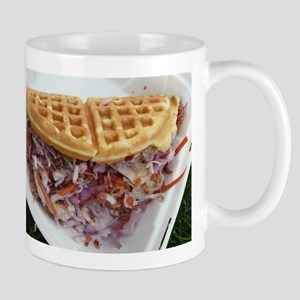 pulled pork waffle with coleslaw Mugs