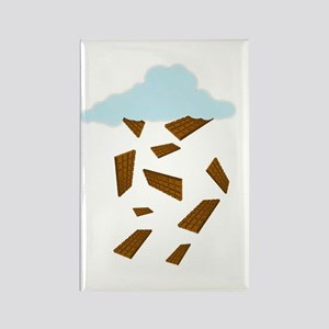 'Chocolate Pieces Rain' Rectangle Magnet