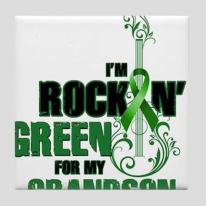 RockinGreenForGrandson Tile Coaster
