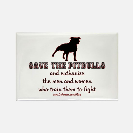 Save The Pit bulls Rectangle Magnet