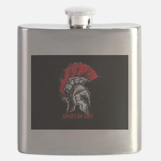 Spartan Helmet, Spartan life tag Flask