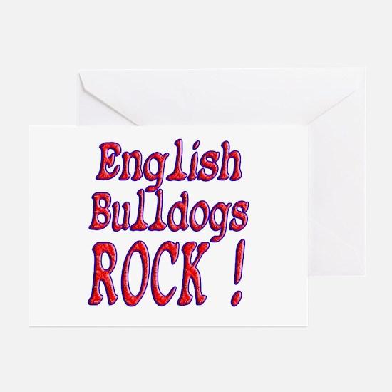English Bulldogs Greeting Cards (Pk of 10)
