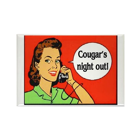 COUGAR'S NIGHT OUT Rectangle Magnet