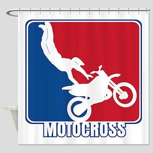 Major League Motocross Shower Curtain