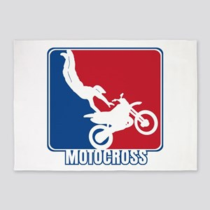 Major League Motocross 5'x7'Area Rug