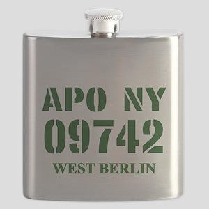 APO NY 09742 Flask