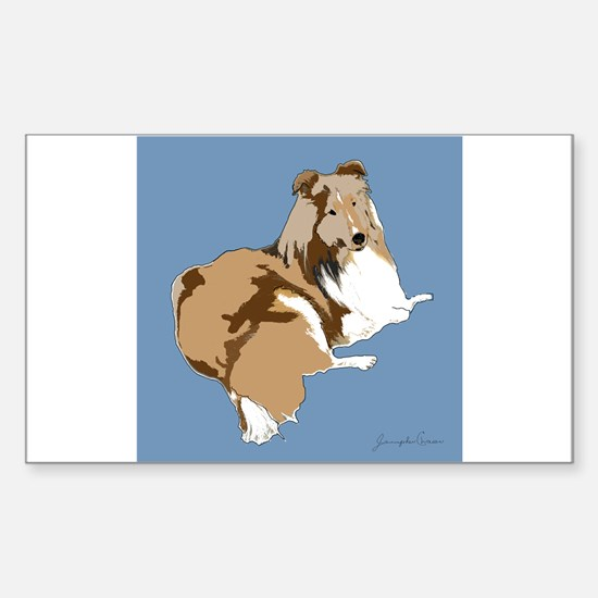 The Artsy Dog Rectangle Decal