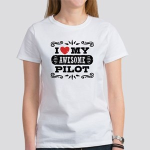 I Love My Awesome Pi Women's Classic White T-Shirt