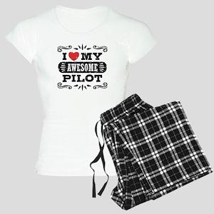 I Love My Awesome Pilot Women's Light Pajamas