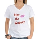 Kiss the Waiver Women's V-Neck T-Shirt