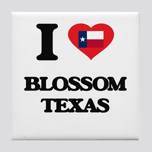 I love Blossom Texas Tile Coaster