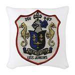 USS JENKINS Woven Throw Pillow
