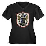 USS JENKINS Women's Plus Size V-Neck Dark T-Shirt