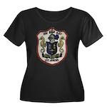 USS JENK Women's Plus Size Scoop Neck Dark T-Shirt