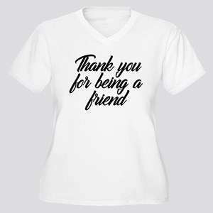 Thank You For Bei Women's Plus Size V-Neck T-Shirt