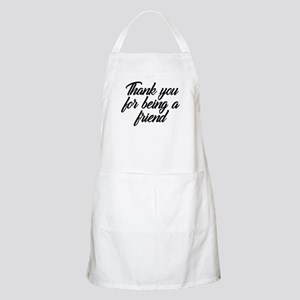 Thank You For Being a Friend Light Apron