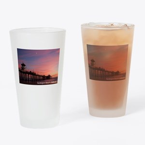 Huntington Beach, California Pier Drinking Glass