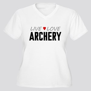 Live Love Archery Women's Plus Size V-Neck T-Shirt
