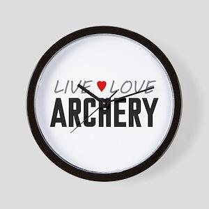 Live Love Archery Wall Clock