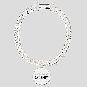 Live Love Archery Charm Bracelet, One Charm