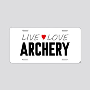 Live Love Archery Aluminum License Plate