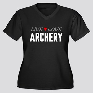 Live Love Archery Women's Dark Plus Size V-Neck T-