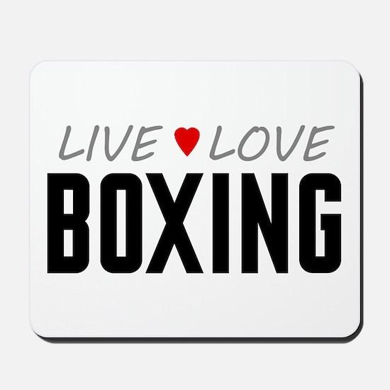 Live Love Boxing Mousepad